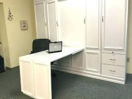 hidden office desk. Hidden Office Desk Wood Home Real Cabinet With N
