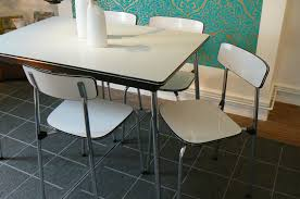 retro chrome table and chairs value of 1950s chrome and formica with regard to 1950 kitchen