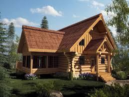 maison modèle de bois rond harkins en 3 d