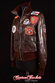 las top aviator brown washed lambskin leather er style womens blouson jacket customjackets