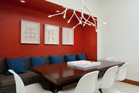 what goes with red walls