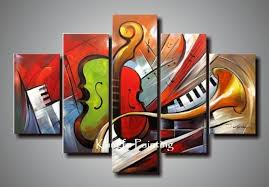 Small Picture Holiday Sale 100 hand painted discount abstract music paintings