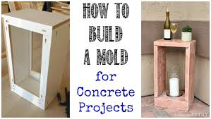 how to build a mold for concrete projects