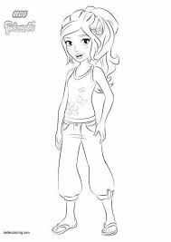 Lego Friends Coloring Pages Mia