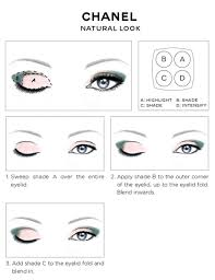 eye makeup diagram luxury chanel eye makeup chart how to wear chanel les 4 ombres eye