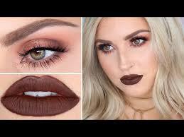 brown lipstick makeup tutorial warm brown sultry smokey eye watch now