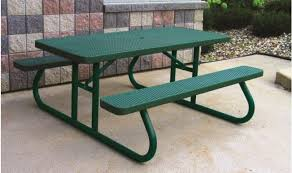 Heavy Duty Rectangular Plastic Coated Picnic Tables