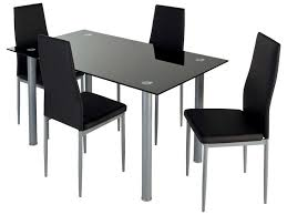 Ensemble Table 4 Chaises Featuring Coloris Noir Conforama