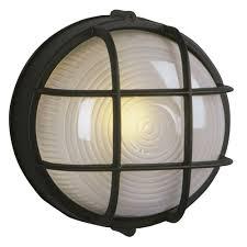 Marine Bulkhead Outdoor Wall Light In Black 305012 Bk