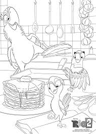 Parrots Cooking Coloring Pages For Kids