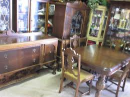 Gorgeous Antique Ornate 9 Piece Jacobean Dining Room Set
