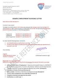 experience letter sample sample work experience letter for acs skills assessment