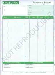 Checking Account Statement Template Bank Sample Balance