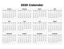 Printable Calendars For 2020 Printable Calendar 2020 Simple Useful Printable Calendars