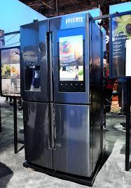 samsung refrigerator touch screen. samsung\u0027s new smart fridge has a 21.5-inch touchscreen that lets you order groceries samsung refrigerator touch screen s