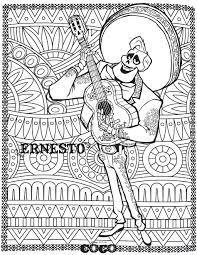 Disney Coco Ernesto Retour En Enfance Coloriages Difficiles