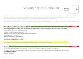Blank Checklist Template Amazing Office Move Project Plan Excel Checklist Template Relocation Example