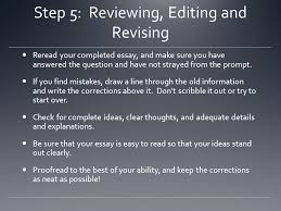 timed writing and you ppt step 5 reviewing editing and revising