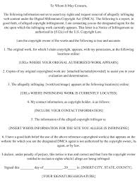 Dmca Notice Template Great Dmca Takedown Notice Template Images Entry Level Resume 2
