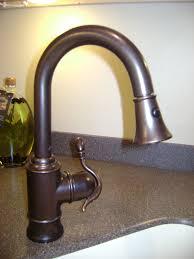 attractive moen oil rubbed bronze kitchen faucet regarding moen waterhill 2 handle high arc side sprayer bridge