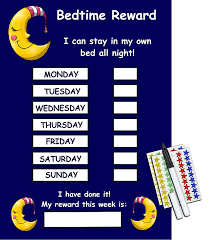 Night Time Potty Training Reward Chart Happy Learners Limited Bedtime Reward Chart Stay In Bed All Night Childrens Reusable Sticker Chart