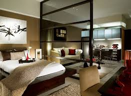 View in gallery Modern asian style bedroom for a posh studio apartment