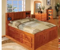 Honey Full Size Bookcase Captains Bed Bed Frames