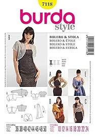 Bolero Jacket Pattern Adorable Amazon Burda Ladies Easy Sewing Pattern 48 Bolero Jacket