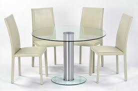 White Leather Kitchen Chairs Dining Room Round Glass Dining Table And Chairs Epic Dining Room
