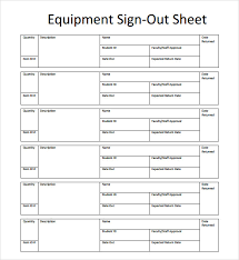 sign up sheet template printable tool sign out sheet template