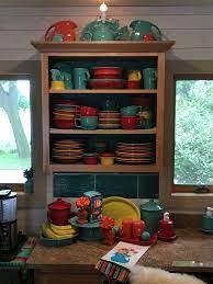 Fiestaware Display Fiesta Kitchen Kitchen Style Rainbow Kitchen