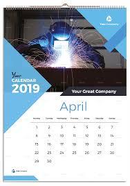 Wall Calendar Design Ideas 2019 Wall Calendar 2019 Ad Wall Spon Calendar Calendar