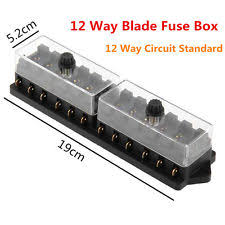blade fuse box pins ebay fuse box pins car boat 12 way pin circuit standard ato blade fuse box block holder plug 12v \