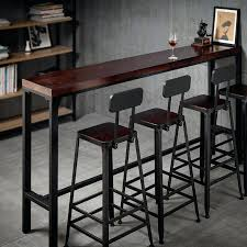 Narrow bar table Industrial Long Narrow Bar Table Bar Table Simple Modern Home Bar Against The Wall Tables And Chairs Tjleinfo Long Narrow Bar Table Tjleinfo