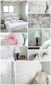 my girlie beachy shabby chic bedroom diy headboard rachel ashwell duvet chandelier and