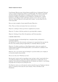 Receptionist Objective For Resume Objective For Resume For Receptionist Shalomhouseus 10