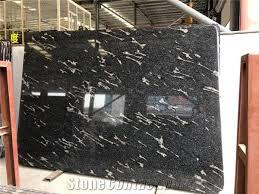 china black via lactea granite slabs tiles snow grey