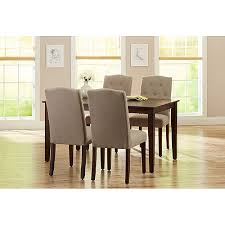 better homes and gardens 5 piece dining set with upholstered chairs taupe walmart