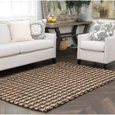 Jute Rug Living Room Kosas Home Dogtooth Handspun Jute Black Area Rug Reviews Wayfair