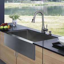 Vigo VG3320BLK1 33 Farmhouse Stainless Steel Kitchen Sink With Two Farmhouse Stainless Steel Kitchen Sink