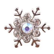 new arrival white lovely crystal snowflake beauty 18mm metal snap ons for diy snap jewelry whole
