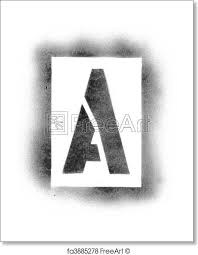 Stencil Spraypaint Free Art Print Of Stencil Letters In Spray Paint Freeart Fa3885278