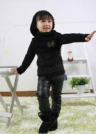 black leather pants for kids