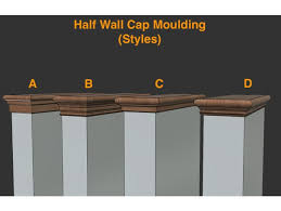 half wall cap moulding 12 diffe