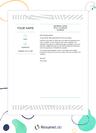 Creative Cover Letter Template 35 Cover Letter Templates To Edit Download Including Free