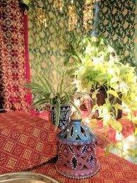 diy ganpati decoration with sarees bangles one brick at a time