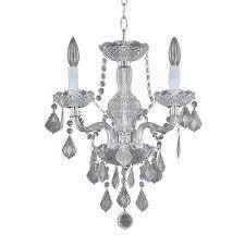 hampton bay 3 light chrome maria theresa mini chandelier 1000037506