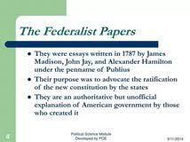 Introduction to The Federalist   Teaching American History