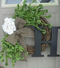 spring front door wreathsBest 25 Burlap initial wreath ideas on Pinterest  Initial wreath