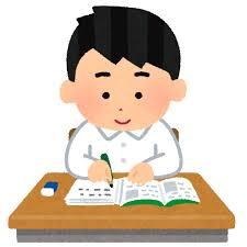 机で勉強をする生徒のイラスト(制服男子)   かわいいフリー素材集 ...